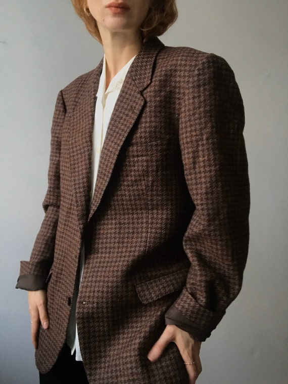 Cacharel vintage oversized tweed blazer/L-M - image 2