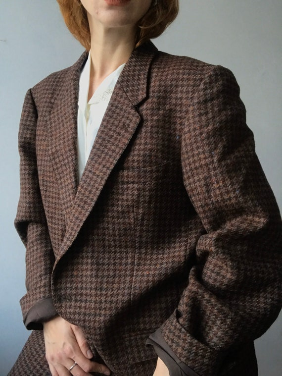 Cacharel vintage oversized tweed blazer/L-M - image 3