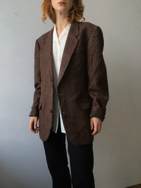 Cacharel vintage oversized tweed blazer/L-M - image 1