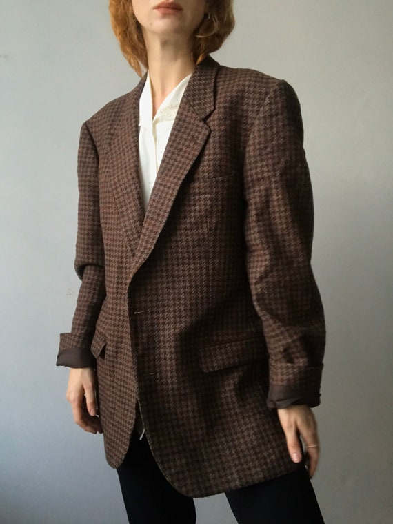 Cacharel vintage oversized tweed blazer/L-M - image 5