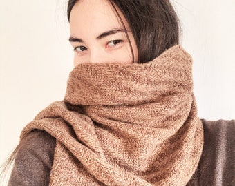 Handmade Christmas Gift, Women's Shawl, Handmade Stole Camel down, Yak fluff scarf,  Men's Knitted scarf, Scarf Soft Knitted, Luxury Stole