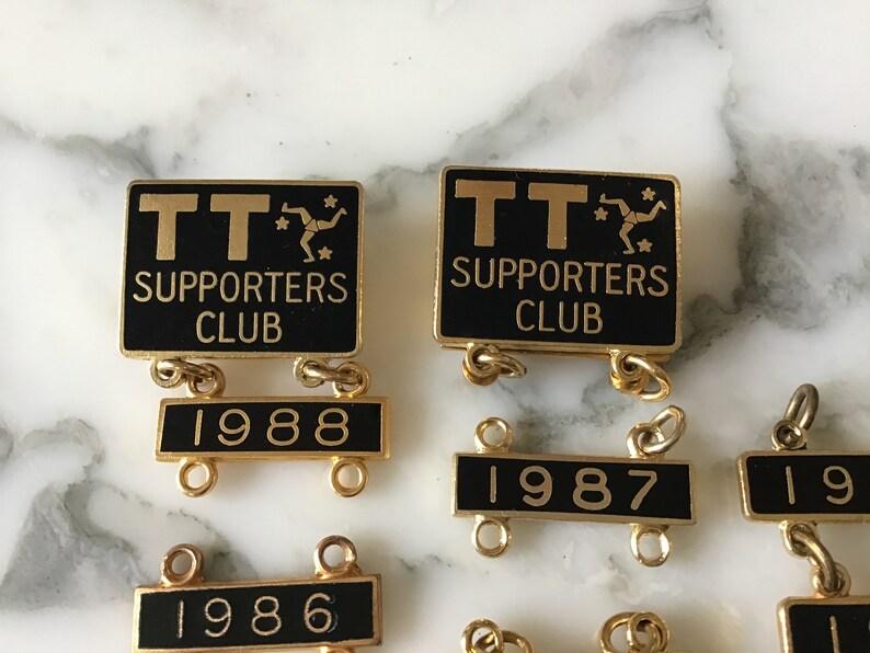 Vintage Isle of Man TT supporters badges.