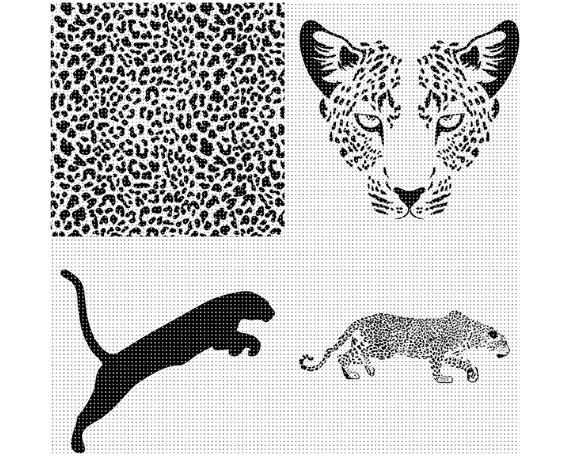 Leopard Svg Bundle Leopard Svg Leopard Clipart Leopard Etsy