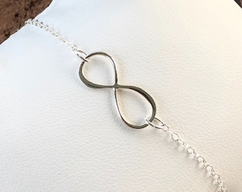 Sterling Silver Eternity Anklet Infinity Anklet Silver Sterling Eternity Anklet or Bracelet 925 Sterling Silver Anklet BuyAny3+Get1 Free