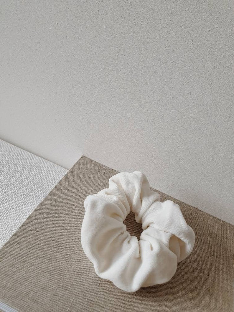made with softest high quality 100/% organic cotton off-cuts Organic Cotton Velvet Scrunchie set of 2