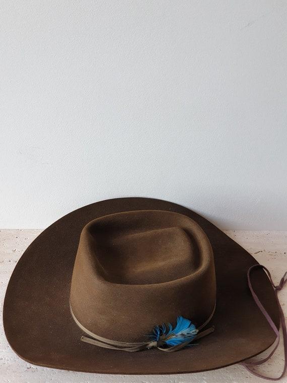 Corral Western Wear Felt Brown Hat | Vintage