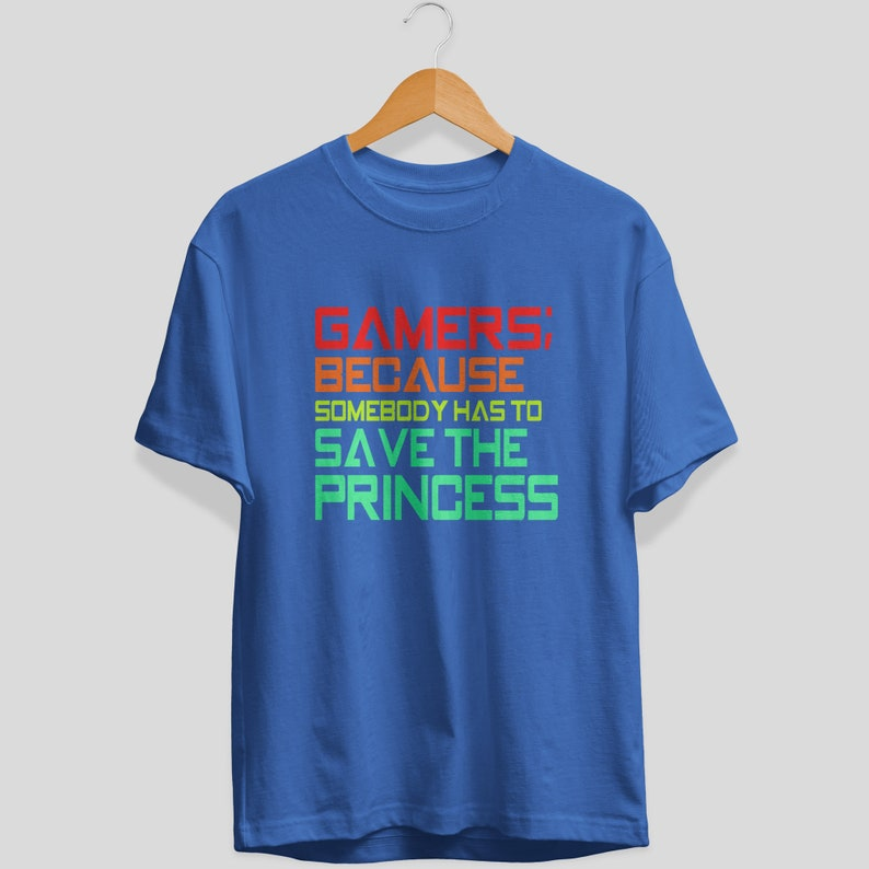 Gamers T-Shirt Ladies Men/'s Shirts Retro style tees Unisex T-Shirt Gamers Tees Save the Princess Graphic Tees