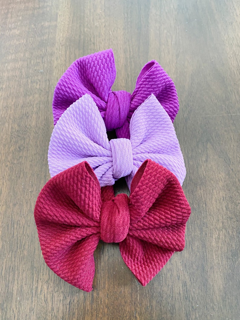 Solid Hair Bow Bows on Clip Bows Bow Box Solid Fabric Bows Hair Bow Bundles Bows for Babies Baby Girl Party Favors Bows on Nylon