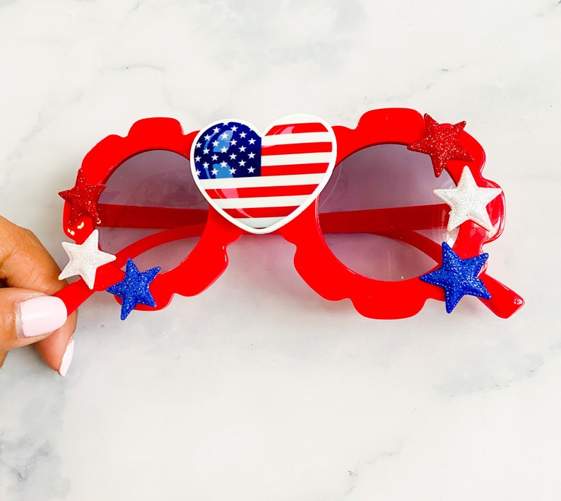 Baby Flower Sunglasses Sunglasses 4th of July Sunglasses 4th of July Girls Accessories Baby Sunglasses Girl Flower Sunglasses Toddler