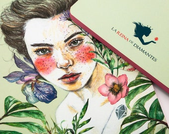 A5 notebook, writing journal, travel notebook, original gift for women, unique notebook, creative stationery
