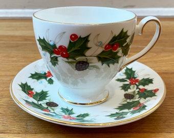 Noel Royal Grafton Fine Bone China Tea Cup & Saucer Holiday
