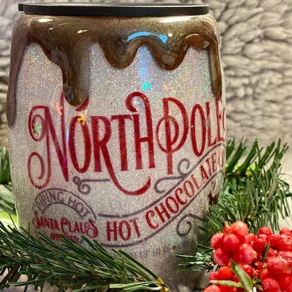North Pole Glitter Coffee MugPersonalized MugCustomized Cups