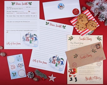 Personalised Letter From Santa - Plus a letter to send to Santa, along with stickers to decorate the envelope