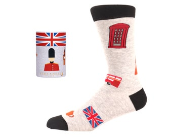 Mens Ladies Unisex Union Jack Socks British Flag Everyday Socks Union Jack Socks