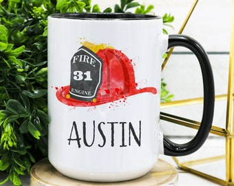 Personalised Fire Engine Gift Mug Large Coffee Cup Fireman Fire Fighter Truck #1