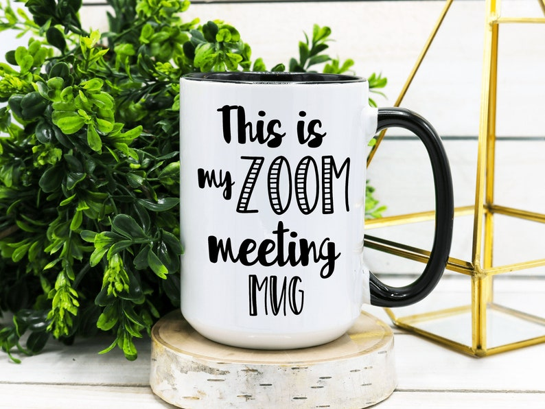 Zoom Meeting Funny Office Coffee Mug Funny Office Gift image 0