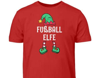 Football Elf Partner Look Family Outfit Girls Christmas T-Shirt