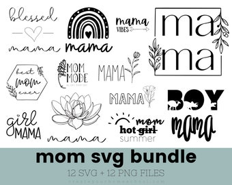 Mom Life SVG Bundle with Commercial License included