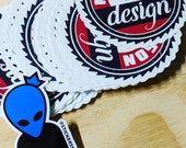 """Masterson Design (@clintmakes) logo sticker, 3"""" die-cut vinyl, UV resistant print with glossy protective laminate."""