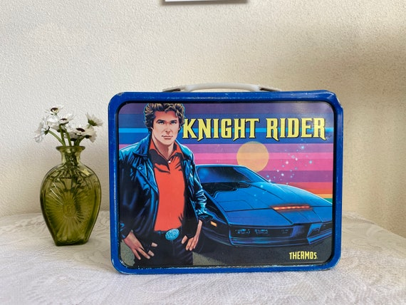 Vintage 1982-83 Knight Rider Thermos Metal Lunch B