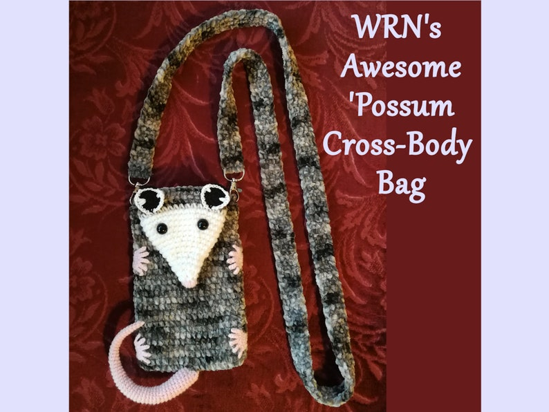 ***Made-to-order*** WRN/'s Awesome /'Possum Cross-Body Bag