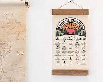 Rhode Island State Park Checklist WITH Pen // Travel Rhode Island Adventure // RI List Vacation Gift // Camp Hike Explore RI banner