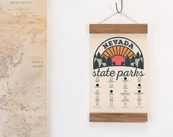 NV State Park Adventure Checklist WITH Pen // Nevada State Park // Travel Nevada Gift // Hike Bike Camp Explore NV