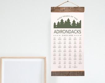High Peaks of the Adirondack Adventure Checklist WITH Pen // Adirondacks // Travel Gift // Hiking Camping Explore Bucket List