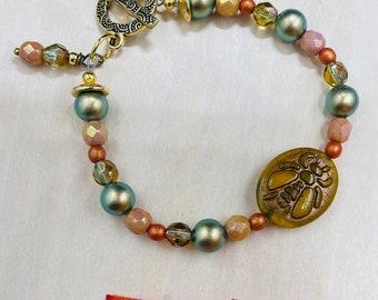 Autumn Vibes Bumblebee Bracelet