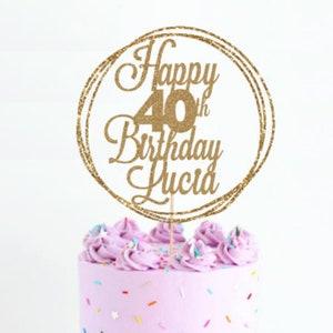 Cake Topper Birthday Etsy