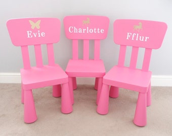 Kids chair with name   Etsy