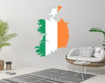 Office Dublin St Patricks Day Skyline Decal Art Ireland Skyline Irish Wall Art Skyline Wall Decor Wall Sticker Home Decor Britain