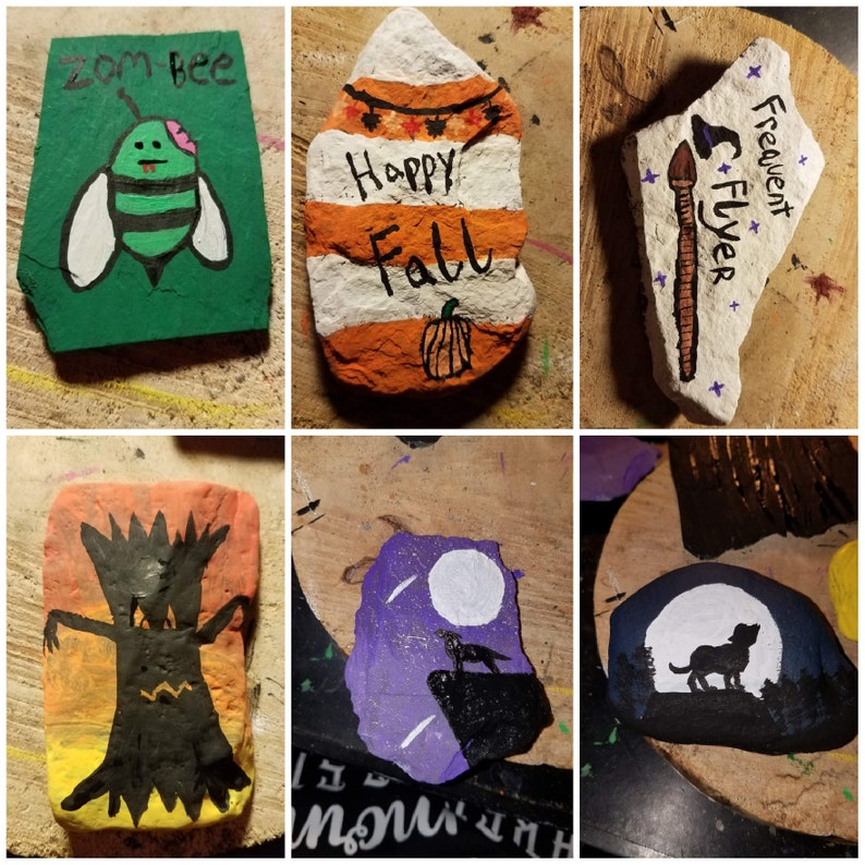 Painted Rocks by BrishnKatArtwork