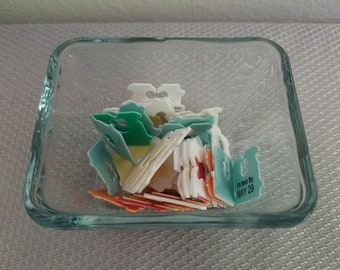 Plastic Bread Tabs Clips Tags Bag of 100 Recycled Multi Colored Upcycled Crafts