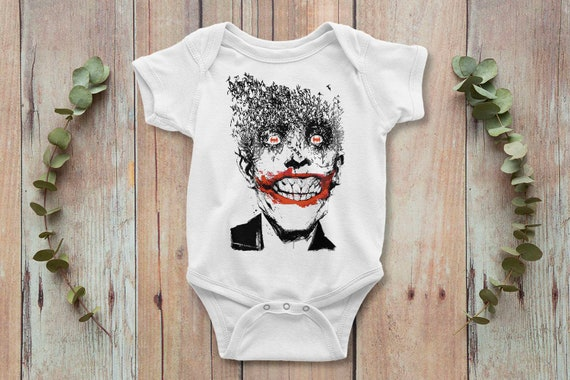 Baby Onepiece 100/% Cotton Baby Bodysuit Newborn Baby Shower Joker Monalisa Smile Funny Baby Onesie\u00ae Baby Gift