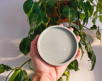 "4"" Concrete Trinket Dish | Coaster, Jewelry Dish, Planter Tray | Color Options"