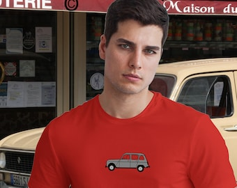 Renault 4  owners unisex T shirt in 20 colours. Classic car shirts. Sizes S-3XL. TG2162