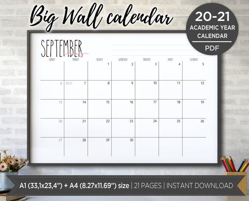 Rae Dunn inspiration 2020-2021 printable Big Wall Calendar ...