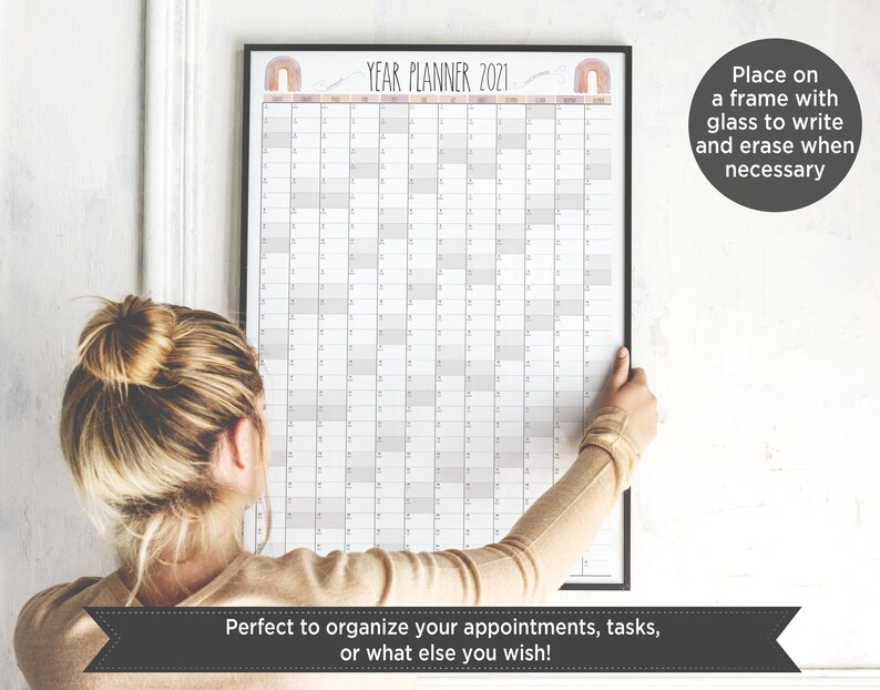 Printable wall calendar 2021 Rae Dunn inspiration/ One ...