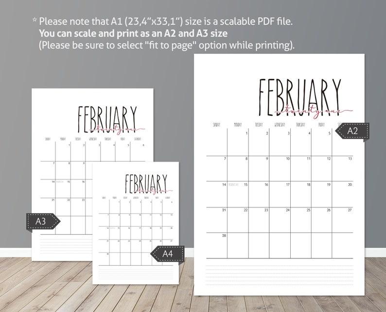 Rae Dunn inspiration 2021 wall calendar printable/ blank ...