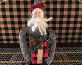 Primitive Handmade Santa Claus - Christmas Decoration