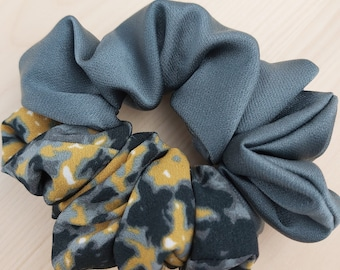 Silk Scrunchies - Double sided Hair Accessory - Silk and Satin Hair bow - Perfect gift for women