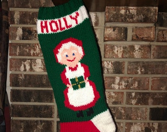 Mrs Claus Stocking  PATTERN ONLY