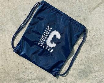Personalized Drawstring Bag, Custom Drawstring Backpack, Gym Bag, Cinch Bag, School Sports Bag, Overnight bag, Lightweight Bag