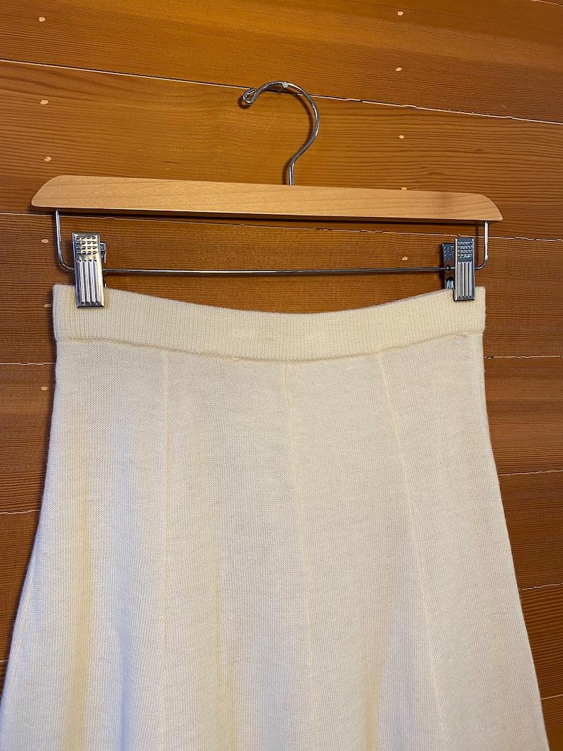 Sheer High Rise Knit Skirt