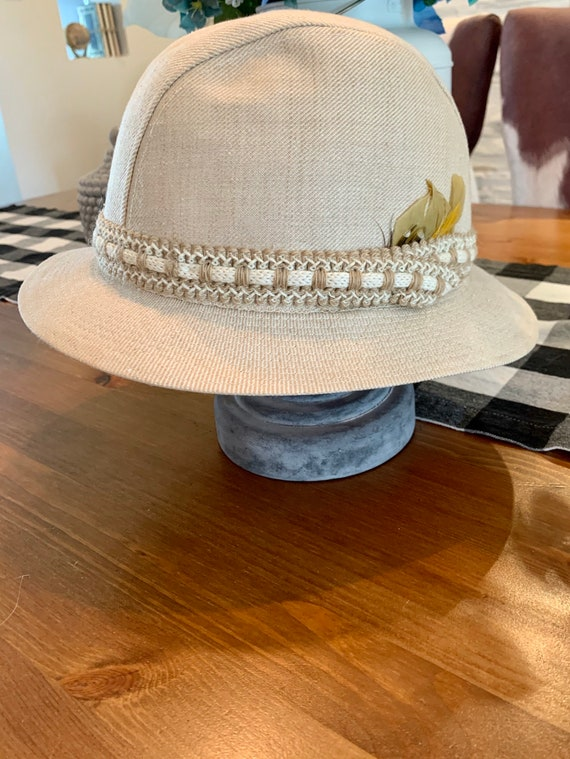 Unisexe vintage hat /Biltmore fedora / Feather / y