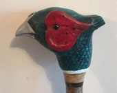 Handcrafted Walking Stick - Cock Pheasant