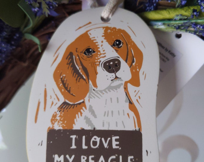 Ornament - I Love My Beagle