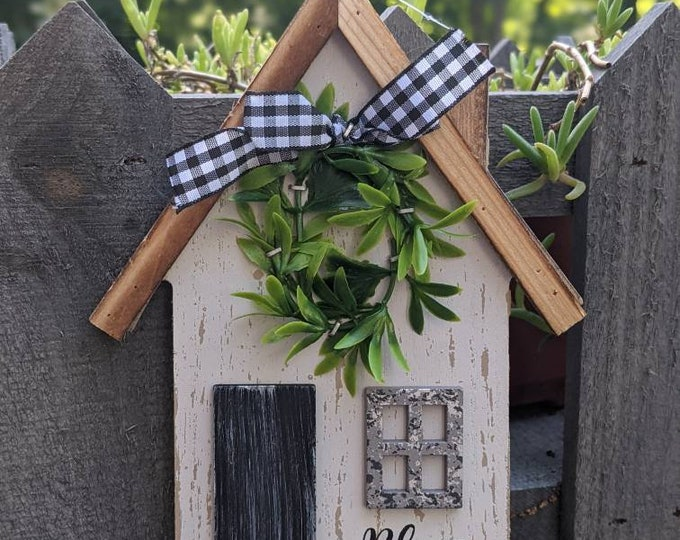 Bless this home - wooden wall sign