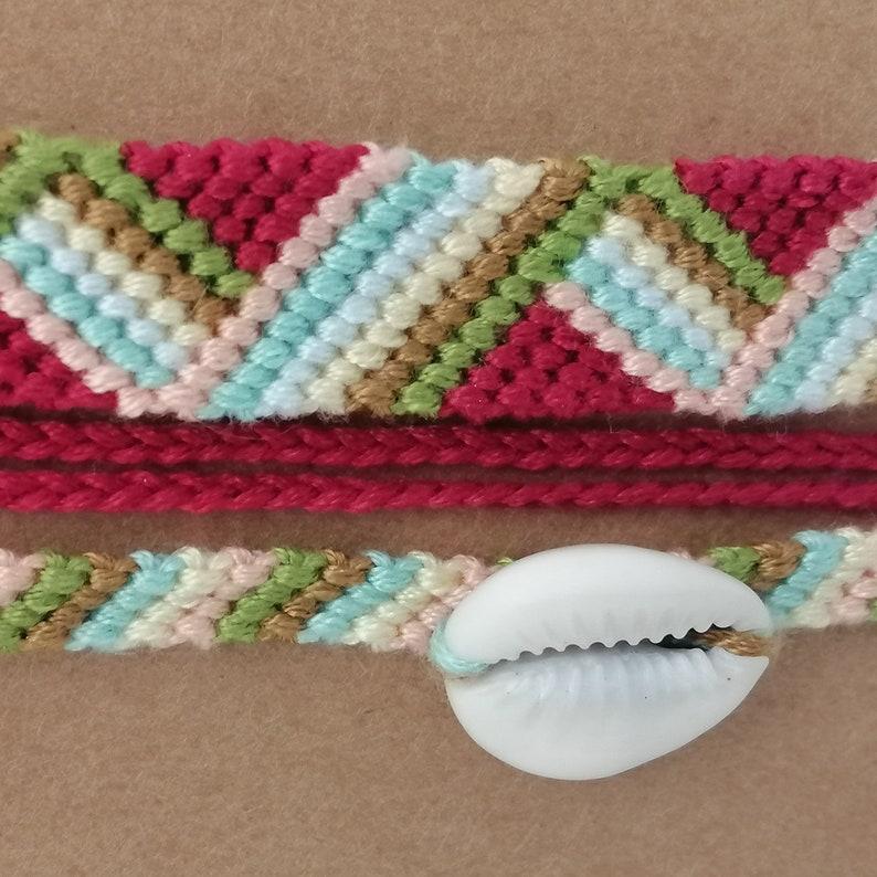 Friendship Bracelets Zigzag and sea shell colored bracelet #5 Bracelet Bresilien